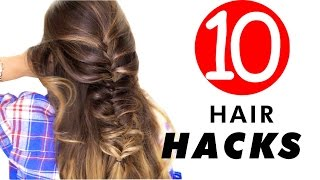 10 everyday hair hacks hairstyles every girl should know life beauty tips   makeupwearables
