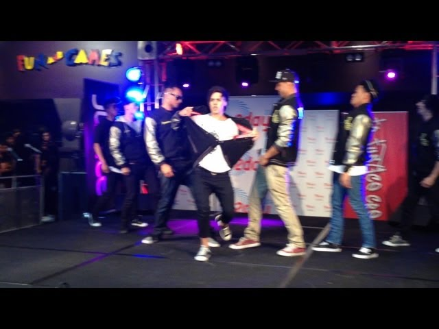 Justice Crew performing at Westfields Liverpool 14/11/12
