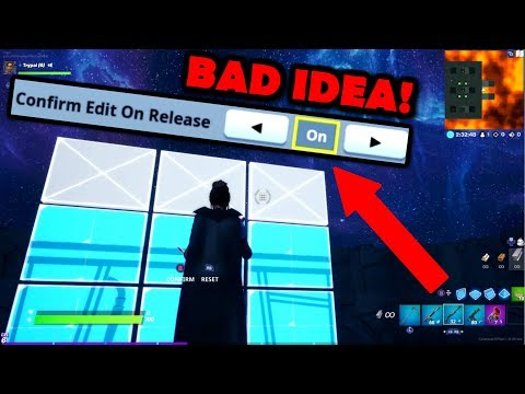 DO NOT USE *NEW* Confirm Edit On Release! (Explained W/ Hand Cam) Fortnite Chapter 2 Season 1