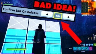 Do Not Use *new* Confirm Edit On Release! Explained W/ Hand Cam Fortnite Chapter 2 Season 1