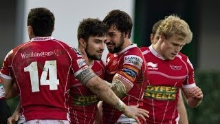Wonderful Jordan Williams Try - Scarlets v Zebre 12th April 2014