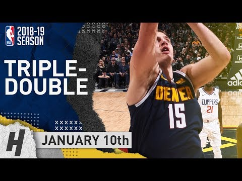 Nikola Jokic Triple-Double Highlights Nuggets vs Clippers 2019.01.10 - 18 Pts, 14 Reb, 10 Ast