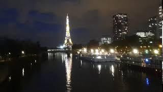 2019夜晚中閃耀的巴黎鐵塔