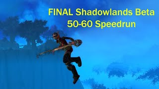 FINAL Shadowlands Beta 50-60 Speedrun