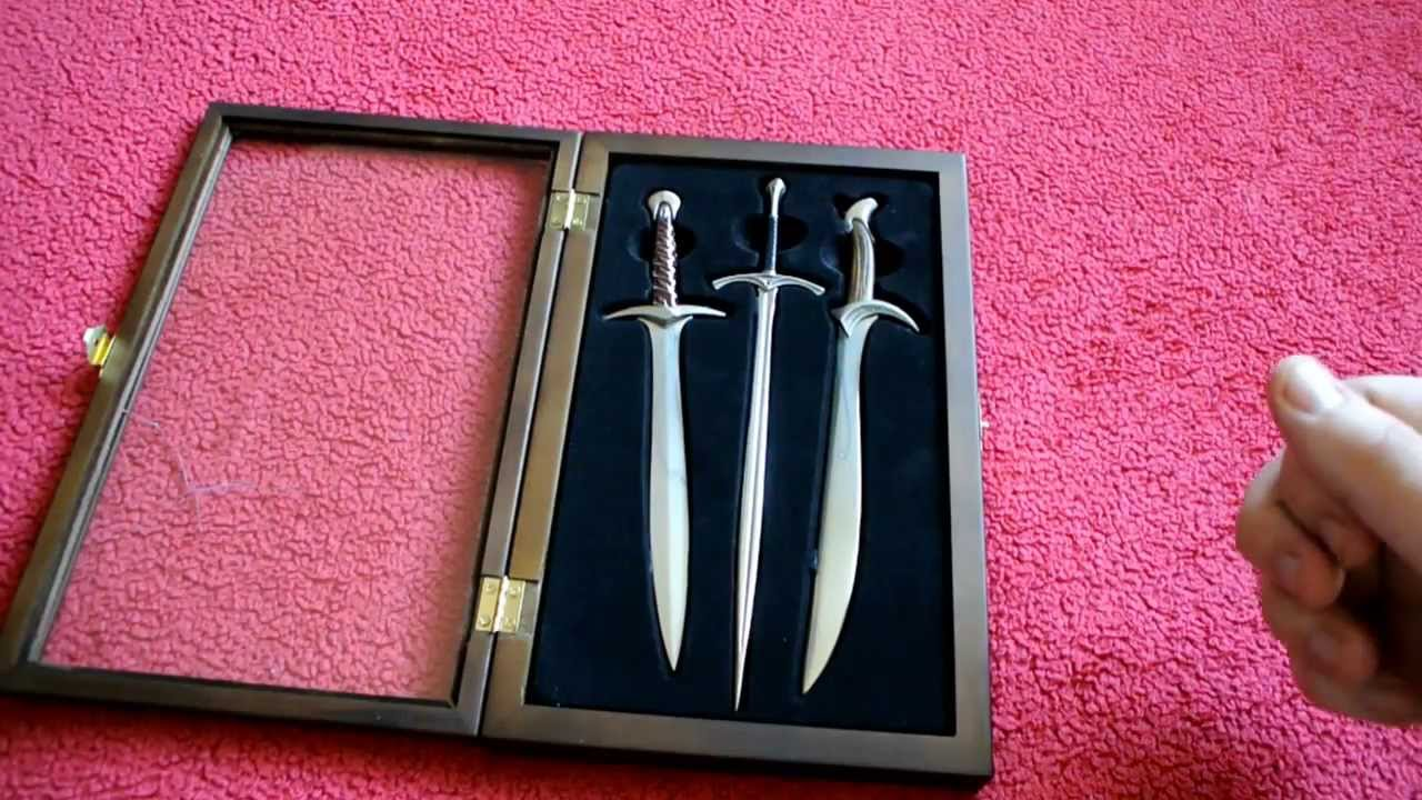 the hobbit letter opener set youtube