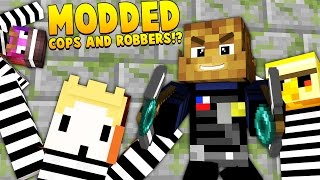 Minecraft GRAPPLING HOOKS MODDED - Cops And Robbers Mod