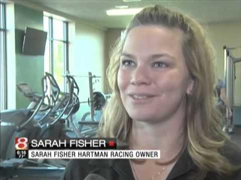 WISHTV  New Partnership CHN & Sarah Fisher Hartman Racing