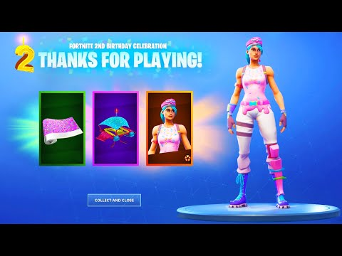 3 FREE BIRTHDAY CELEBRATION ITEMS In Fortnite!