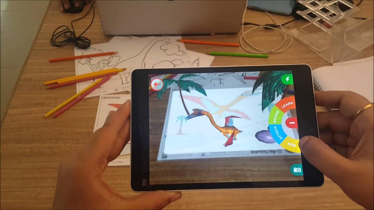 dinosaur adventure smartivity edge augmented reality colouring