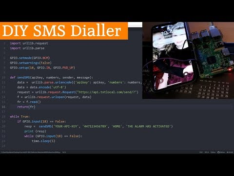 DIY SMS Dialler for your Home Alarm System using a Raspberry Pi