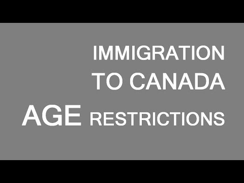 Immigration to Canada. Age limits