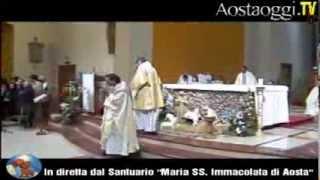Repeat youtube video Messa vigilia di Natale Parrocchia Santuario Maria Immacolata di Aosta in Diretta Video 24/12/2013