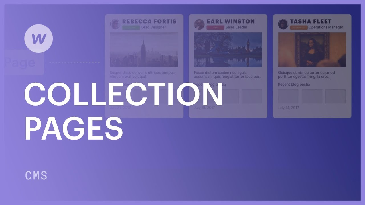 Designing Collection pages - Webflow CMS tutorial