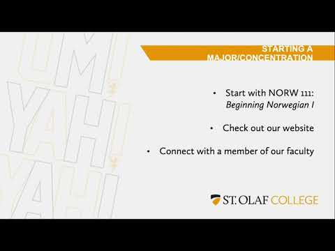 The Norwegian Major at St. Olaf College