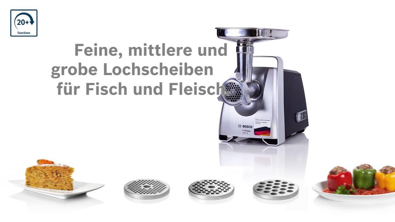 Der leistungsstarke Fleischwolf von Bosch - YouTube | {Fleischwölfe 20}