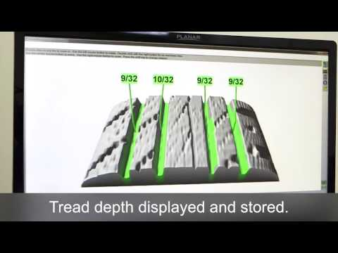 Hunter Engineering drive-over tread depth measurement system