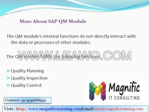 BECOME A SAP QM CONSULTANT & JOB PROFILE 2