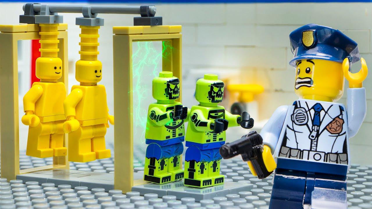 Lego City Zombie Apocalypse Attack: Toxic Zombie Code - Lego Stop Motion