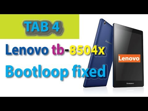 Lenovo tb-8504x bootloop problem fixed [tab 4 8] - YouTube