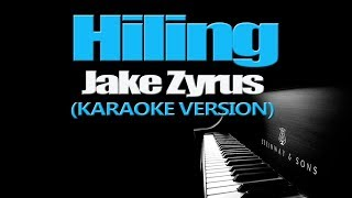 HILING - Jake Zyrus (KARAOKE VERSION)
