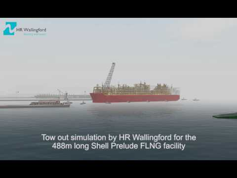Navigation simulation for Shell's Prelude FLNG by HR Wallingford's Australia Ship Simulation Centre