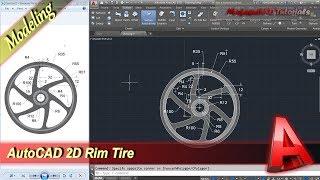 Autocad Tutorial 2D Modeling Rim Tire Practice Exercise 22