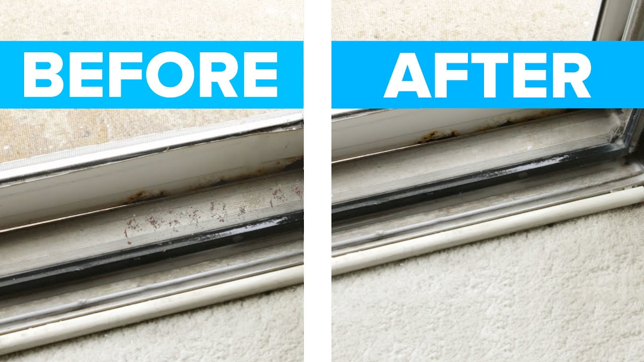 Easy Sliding Door Window Track Cleaner Youtube