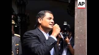 Correa wins re-election but faces difficult economic climate