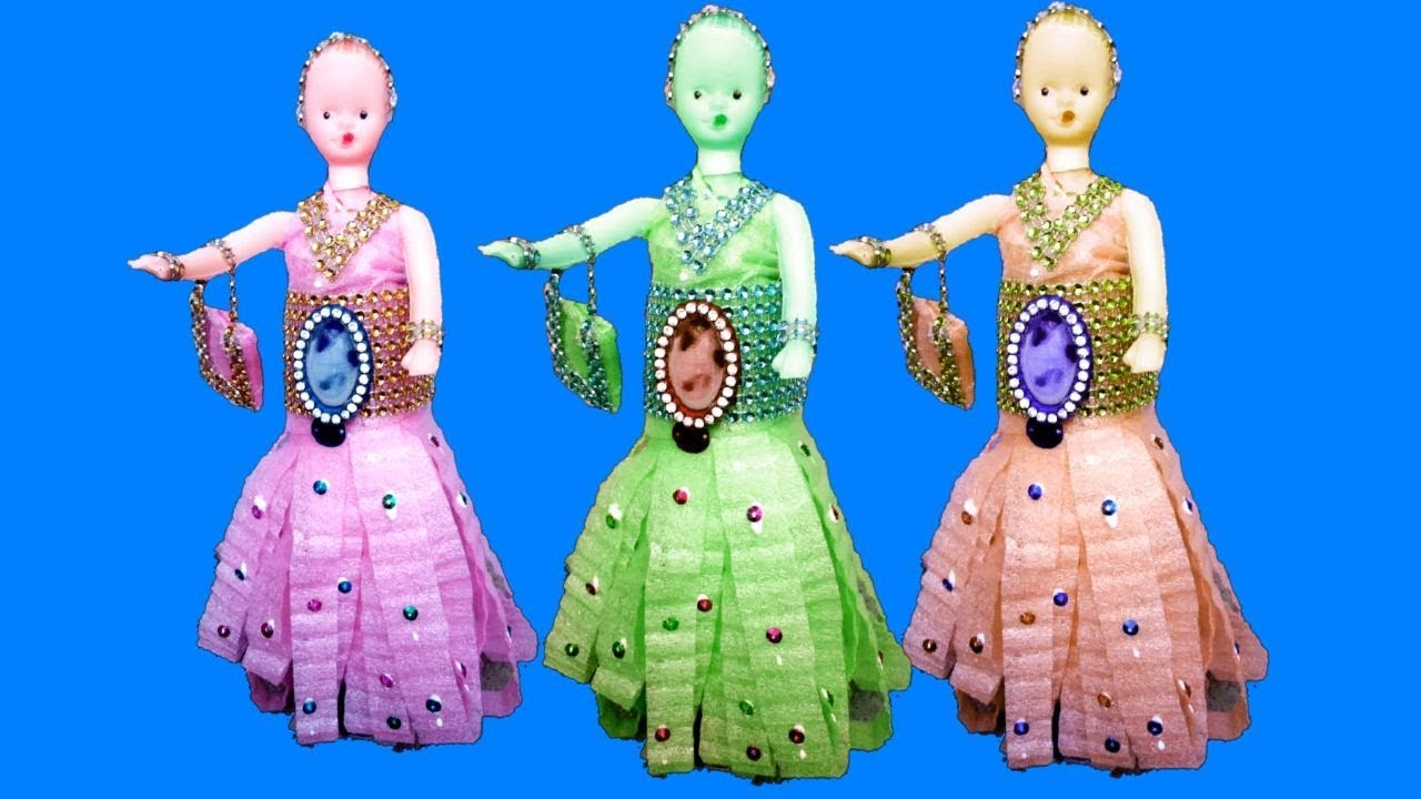Diy Craft Ideas With Waste Material How To Make Dress Youtube