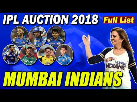FINAL FULL LIST OF MUMBAI INDIANS TEAM | MUMBAI INDIANS TEAM LIST  IPL 2018 | FULL LIST OF IPL TEAMS