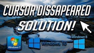 """How to Fix """"Mouse Cursor Disappeared"""" in Windows 10/8/7 - 2018 Solution"""