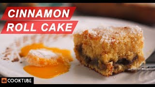 How To Make Cinnamon Roll Cake | Cinnamon Cake Recipe | Dessert Recipes
