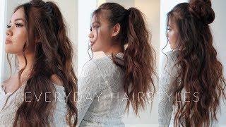 My 4 Everyday Hairstyles | viviannnv