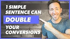 How to Increase Conversion Rate 2X With 1 Simple Sentence