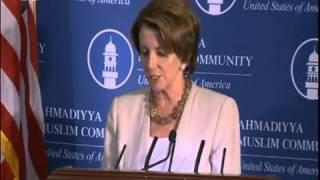 Chef de la paix mondiale prononce un discours au Capitole aux Etats-Unis