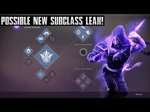 Destiny 2   Possible NEW Hunter Subclass Leak! New Shadowdancer Subclass! Fake Or Real?