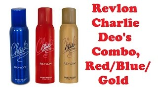 Revlon Charlie Deo Combo, Red/Blue/Gold