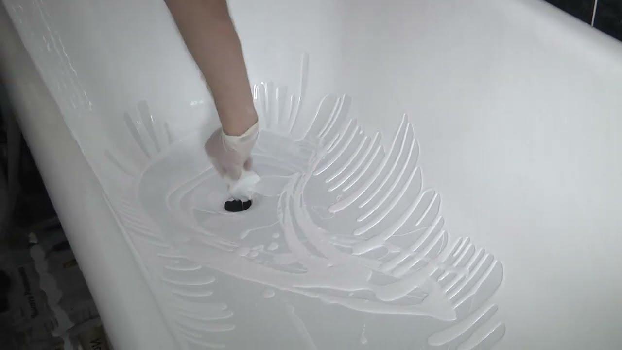 Покраска ванной своими руками акрилом