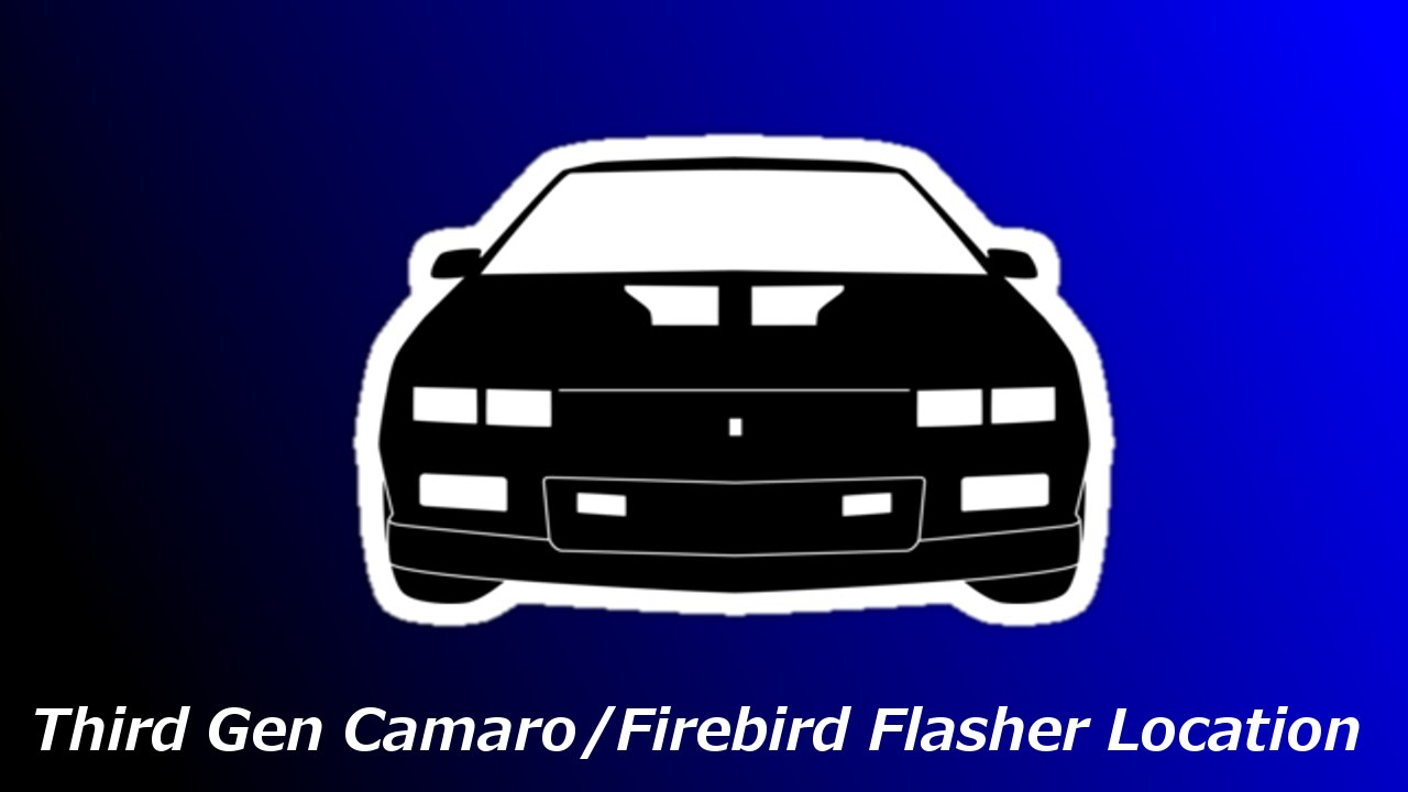 third gen camaro flasher location
