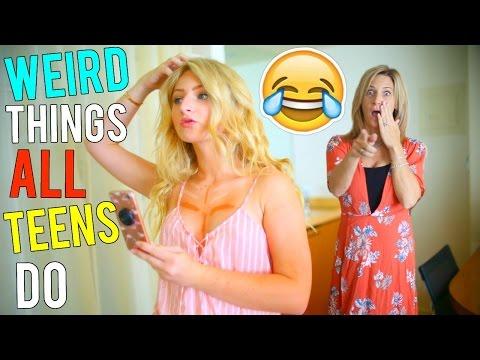 WEIRD Things ALL TEENS Do! | Kalista Elaine