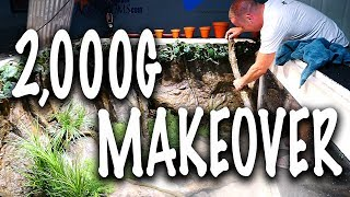 2,000G AQUARIUM MAKEOVER!! | The King of DIY