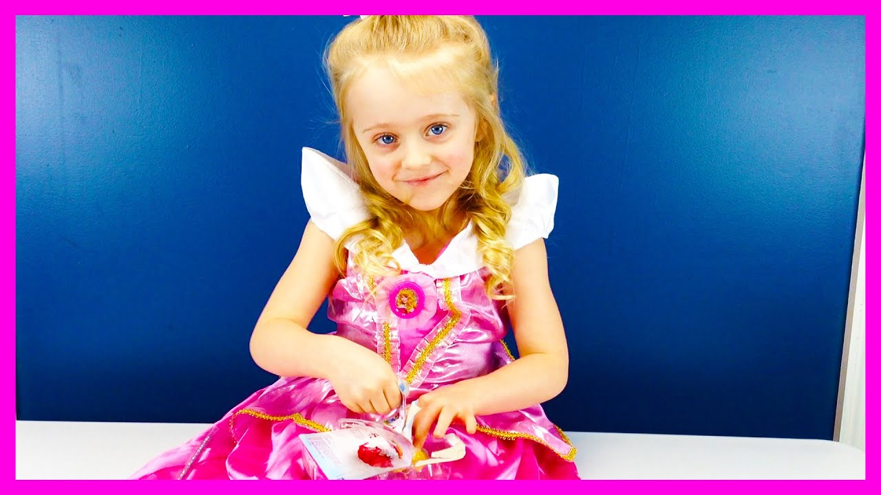 Real Life Disney Princess Aurora Costume u0026 Little Kingdom Dolls Sleeping Beauty and The Beast Toys  sc 1 st  YouTube & Real Life Disney Princess Aurora Costume u0026 Little Kingdom Dolls ...