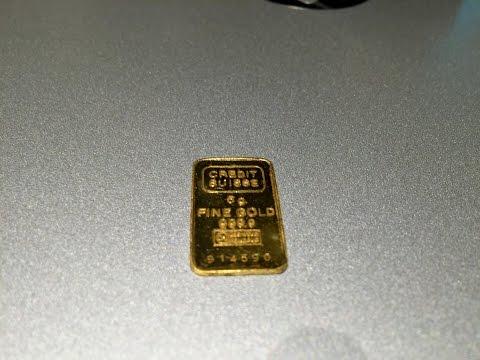 Credit Suisse Gold Bar-- 5 Gram