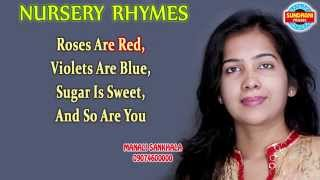 Roses Are Red Violets Are Blue - English Nursery Rhymes - Rhymes For Kids - Manali sankhala