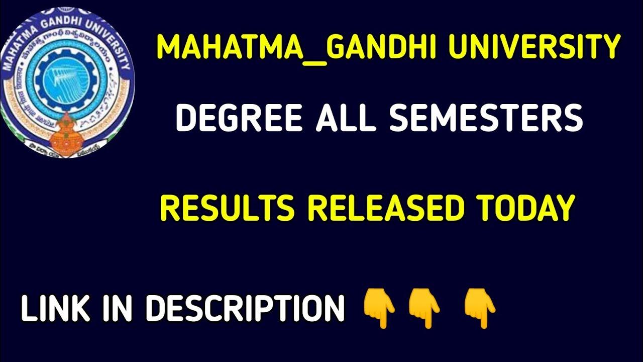 Mahatma Gandhi university degree Results 2019 MG degree all semester exam  results released now 2019