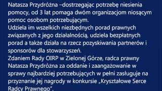 Laureat Kryształowego Serca Radcy Prawnego z OIRP w Zielonej Górze