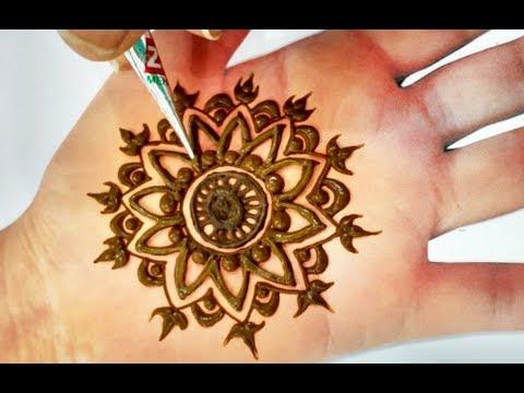 New Flower Mehndi Design Step by Step / Henna Design for Hands/ मेहँदी लगाना सीखें