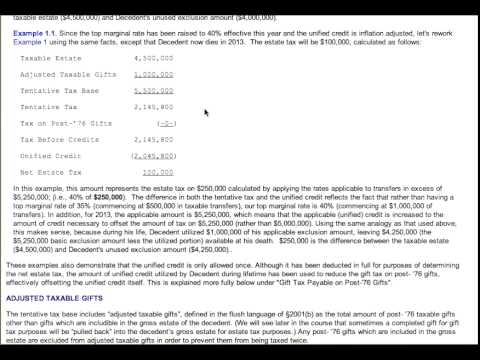 Estate and Gift Tax Calculation Examples Video - YouTube