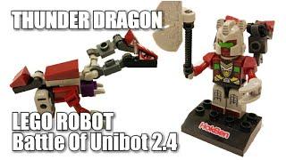 THUNDER DRAGON, LEGO ROBOT Battle Of Unibot (Unboxing Toys kidzu bento HOKBEN) Ep 2.3 seri GIGA BOT