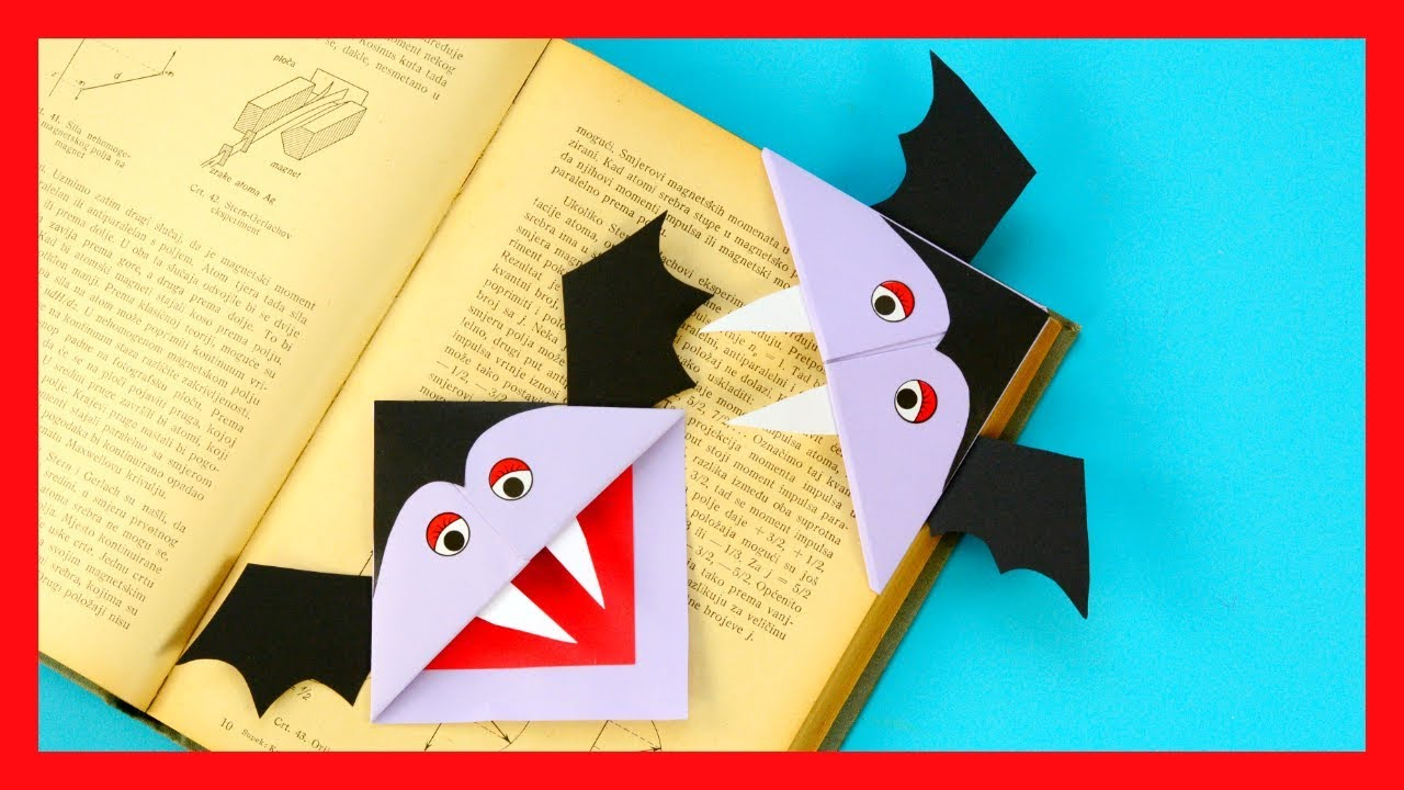 How to make vampire corner bookmark fun halloween origami for how to make vampire corner bookmark fun halloween origami for kids jeuxipadfo Gallery